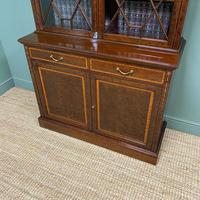 Exceptional Inlaid Victorian Antique Glazed Bookcase by Edwards and Roberts (8 of 10)