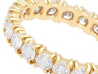 1.95ct Diamond & 18ct Yellow Gold Full Eternity Ring - Vintage French c.1980 (3 of 9)