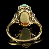 Antique Edwardian Natural Opal Diamond Ring 18ct Gold 5.50ct Opal c.1901 (5 of 7)