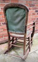 Antique Vintage Adjustable Wooden Wood Children's Baby Toddler High Chair Rocking Chair (5 of 5)