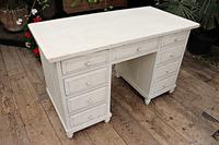 Fabulous! Old Pine / White Painted Desk / Dressing Table - We deliver!