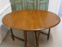 Good Solid Oak Victorian Gateleg Table (6 of 7)