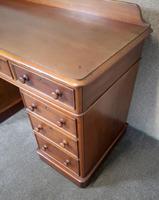 Victorian Mahogany Twin Pedestal Desk (5 of 9)