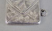 "Edwardian silver ""envelope"" stamp case by Albert Ernest Jenkins, Chester 1903 (3 of 6)"