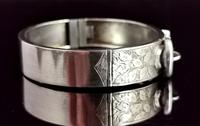 Antique Victorian Silver Buckle Bangle (8 of 11)
