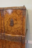 Antique Impressive Burr Oak Cocktail Drinks Cabinet (14 of 16)
