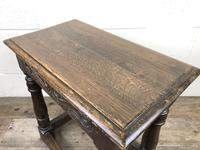Antique Oak Joint Stool with Carved Detail (6 of 13)