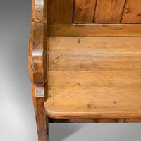 Antique Bench Seat, English, Pine, Pew, Ecclesiastic Taste, Victorian c.1900 (11 of 12)