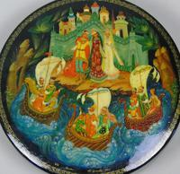 Antique Hand Painted Russian Lidded Box (3 of 9)