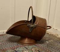 Large Arts & Crafts Copper Helmet Coal Scuttle