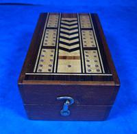 Victorian Inlaid Mahogany Crib  Box (12 of 20)