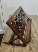 Adjustable Fretwork Figured Walnut Book Rest or, Lutrin (3 of 7)