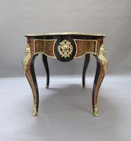 French Napoleon III Louis XV Style Boulle Writing or Centre Table (10 of 16)