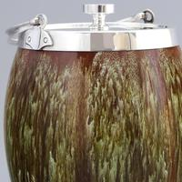 Linthorpe Pottery Aesthetic Movement Drip-Glazed Biscuit Barrel c1885 (2 of 9)