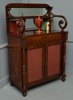 Fine Regency Mahogany Chiffonier Side Cabinet (6 of 18)