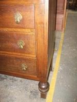 Three Drawer Oak Bureau (4 of 4)