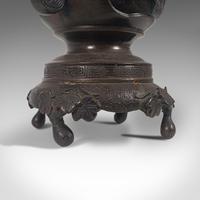 Antique Decorative Vase, Japanese, Bronze, Meiji Period c.1900 (9 of 12)