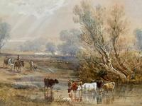 H Earp Senior - Set of Three Watercolours of cattle c1890 (5 of 7)