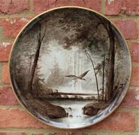 Copeland Victorian Wall-hanging Porcelain Plaque Painted by William Yale, Signed c.1870 (2 of 9)