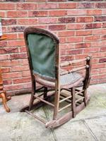 Antique Vintage Adjustable Wooden Wood Children's Baby Toddler High Chair Rocking Chair (3 of 5)