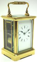 Large Classic Antique French 8-day Gong Striking Carriage Clock c.1880 (2 of 10)