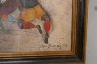 """Original Framed 1970s Print """"Ballon Players"""" by Graciela Rodo Boulanger (2 of 7)"""