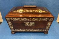 Regency Rosewood Twin Canister Tea Caddy