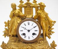 Stunning Quality French Mantel Clock Lady & Lord Figural Mantle Clock. (7 of 9)