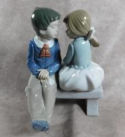 """Primer Amor"" or ""First Love"" Hand Modelled Porcelain Figure by Nao (2 of 9)"