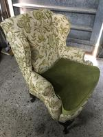 Queen Anne Style French Wing Back Chair (8 of 9)