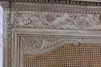 Fabulous Carved French Caned Kingsize  Headboard (6 of 6)