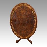 Victorian Inlaid Walnut Loo Table