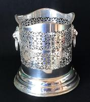 Silver Plate on Copper Reticulated Bottle Holder (2 of 5)