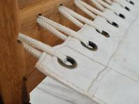 Scandinavian armchair, adjustable back, cowhide, 70s (12 of 20)