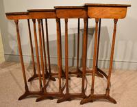 Sheraton Period Amboyna Inlaid Nest of Tables (5 of 6)