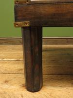 Vintage Colonial Style Low Coffee Table with Brass Details, Nautical Table (5 of 12)