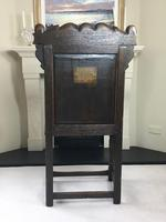 Rare English Charles II Oak Wainscot Armchair Likely to be from Battle Abbey c.1660-1685 (7 of 20)