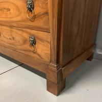 French Cherry & Marble Top Commode Chest of Drawers (3 of 8)