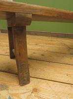 Antique Elm & Pine Sunday School Bench, Rustic Hall Seat (8 of 14)