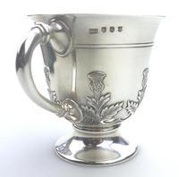 Fine & Rare Scottish Solid Silver Small Tankard by Hamilton & Inches c.1922 (5 of 9)