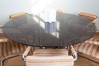 Pieff Glass Chrome Dining Table & 6 Chairs Late 1970s (7 of 14)