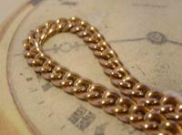 Antique Pocket Watch Chain 1890s French Victorian 14ct Rose Gold Filled Albert (5 of 12)