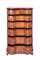 Queen Anne Revival Burr Walnut 7 Drawer Chest c.1920 (2 of 6)