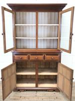 Late 19th Century Welsh Oak Two Stage Cupboard with Glazed Top (2 of 10)