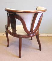 Antique Mahogany Occasional Armchair (4 of 7)