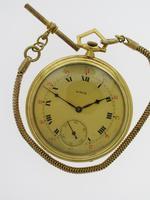 Art Deco Gold Filled Unic Pocket Watch Swiss 1920
