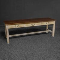 Country Style Three Drawer Dining Table (9 of 10)
