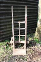 Early 20th Century American Cast Iron and Oak Sack Barrow (2 of 5)