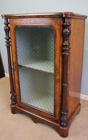Antique Victorian Burr Walnut Display Cabinet (3 of 9)