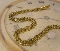 Edwardian Ladies Pocket Watch Guard Chain Antique 10 Gold Filled (8 of 10)
